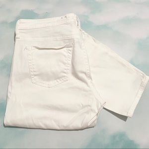 AG The Stevie Ankle Slim Straight White Jeans